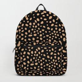 Turtle, Light Gold Spots on Black Backpack
