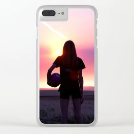 Volleyball Player Clear iPhone Case