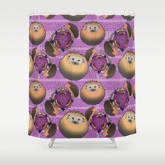 Hedgehog Playtime Shower Curtain