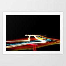 Ribbons of light - Tron Inspired print Art Print