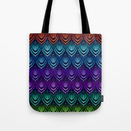 Variations on a Feather I - Deco Style Tote Bag