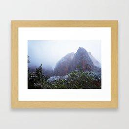 Dream layered mountain Framed Art Print