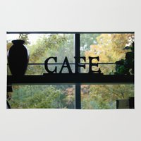 cafe Area & Throw Rugs featuring Cafe by Kasia Wo