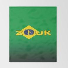 colors of brazil - lets dance brazilian zouk Throw Blanket
