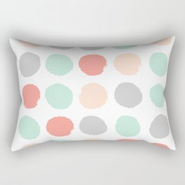 Painted minimal dots trendy gender neutral bright happy color palette nursery art Rectangular Pillow