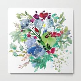 Blooming Florals Metal Print