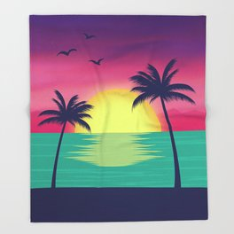 Palm Trees Throw Blanket
