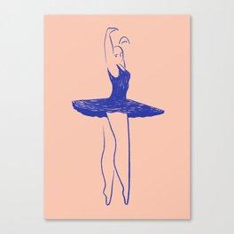 Blue Dancer 2 Canvas Print