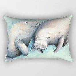 Manatee Love Rectangular Pillow