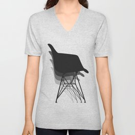 Eames Style Chair Abstract Unisex V-Neck