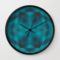 native Wall Clocks featuring Native by Erica Anderson