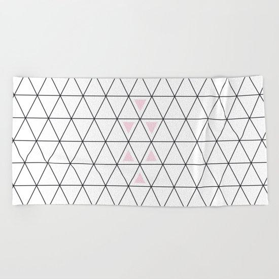Pink triangle Beach Towel
