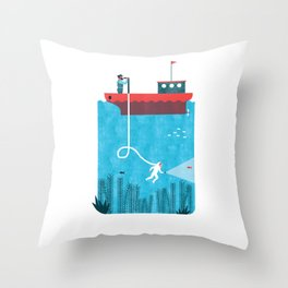 NAVIGATION MANUAL Throw Pillow