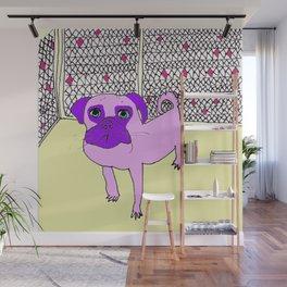 Purple Pug Pal Wall Mural