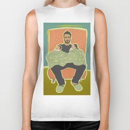 Father with Twins Biker Tank