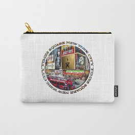 Times Square New York City (badge emblem on white) Carry-All Pouch