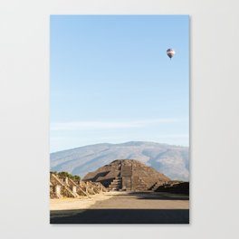 Teotihuacan - Pyramid of the Moon Canvas Print