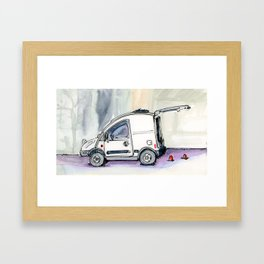 Little Van Framed Art Print