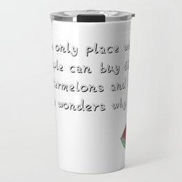 Funny Math T Shirts. Discover Math Watermelons Shirt Travel Mug