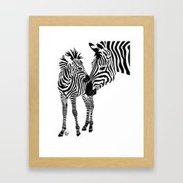 Love Stripes Two Framed Art Print