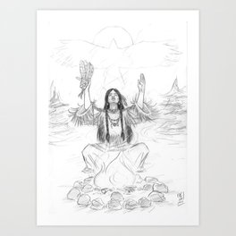 Shaman's Breath Art Print