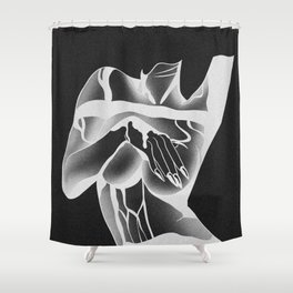 Under Boob Negative Shower Curtain