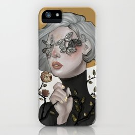 Butterflies and Roses iPhone Case