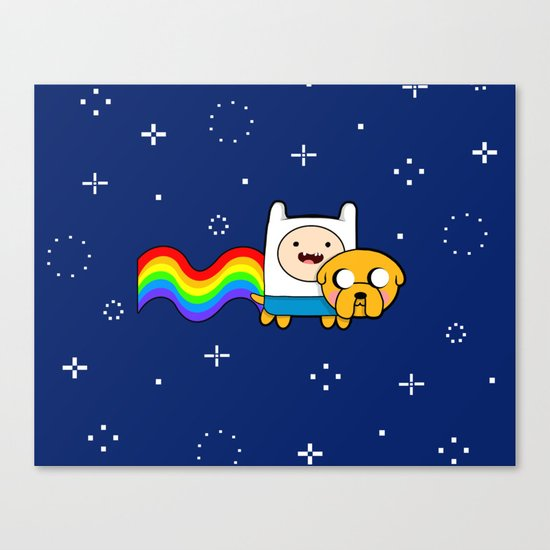 Nyan Time: Adventure Time plus Nyan Cat Canvas Print