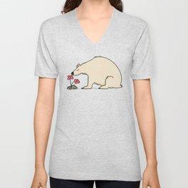 Polar Bear In Summer Unisex V-Neck