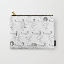 Don't Touch My Hair (On White) Carry-All Pouch