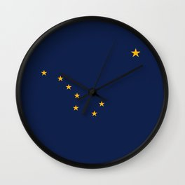 Alaska State Flag, Authentic version Wall Clock