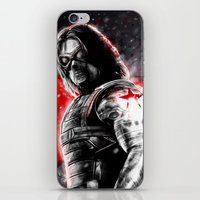 the winter soldier iPhone & iPod Skins featuring Winter Soldier by p1xer