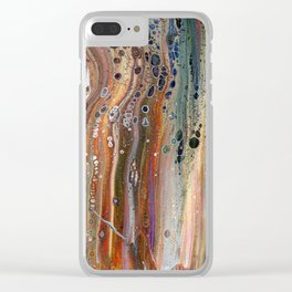 Fluid Acrylic IX - Abstract, original, acrylic pour painting Clear iPhone Case