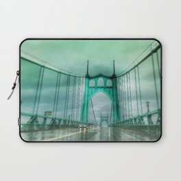 St John's Bridge Portland Oregon Laptop Sleeve