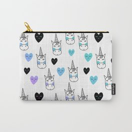 White Unicorns Carry-All Pouch