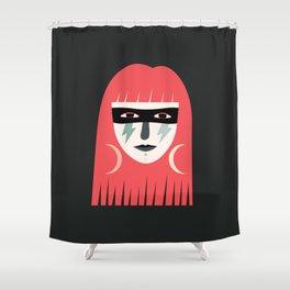 Lightning Bolt Girl Shower Curtain