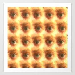 Creepy cartoon eyes pattern Art Print