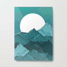 The Turquoise Mounts Metal Print