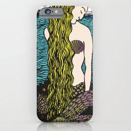 Mermaid by the Ocean | Siren of the Sea | Vintage Mermaid | iPhone Case