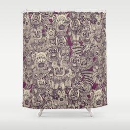 gargoyles purple Shower Curtain