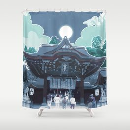 Night in Japan Shower Curtain