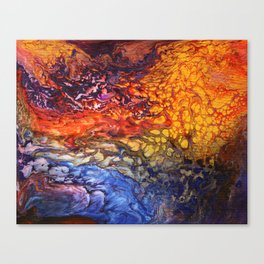 SoapsAndRoses.Art: Fluid Sunset Canvas Print