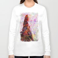 kandinsky Long Sleeve T-shirts featuring DayDreaming - Intense Multi-Color Vibrant Abstract Mixed Media Digital Painting by Mark Compton
