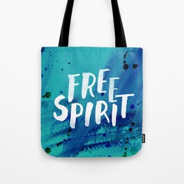 Free Spirit Blue Tote Bag