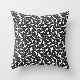 Sharks (inverted) Throw Pillow