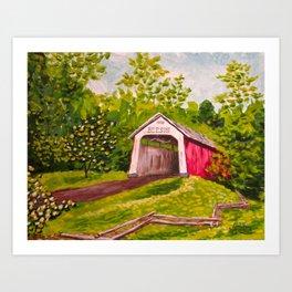Beeson Bridge Art Print
