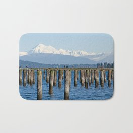 MOUNT BAKER KOMA KULSHAN AND OLD PILINGS  Bath Mat