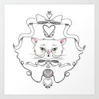 Cat Crest Art Print