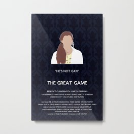 The Great Game - Molly Hooper Metal Print