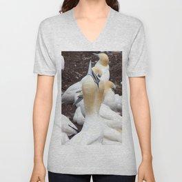 Northern gannet embrace Unisex V-Neck